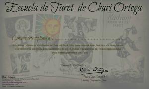 Diploma que se entrega al final del curso de Tarot de la Escuela de Chari Ortega