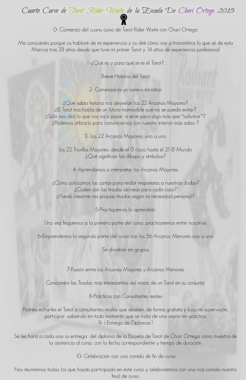Programa de Tarot 4 Curso 2015